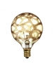 Bulbrite 144024 - 25W - Amber Marble - G16.5 - E12 Candelabra Base - 120V - Crystal Collection